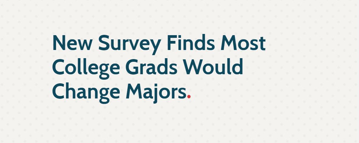 出国留学可以换专业吗 60%的美国大学毕业生想换专业?