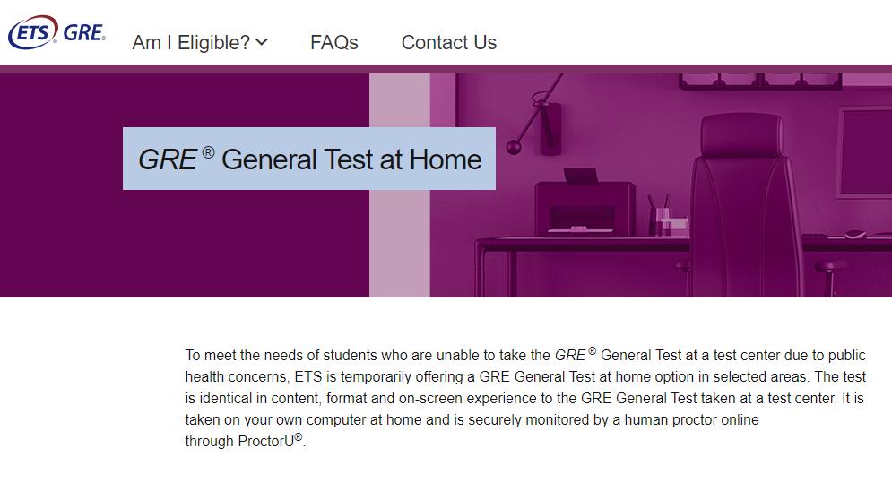 GRE推出在家考试 香港澳门可考