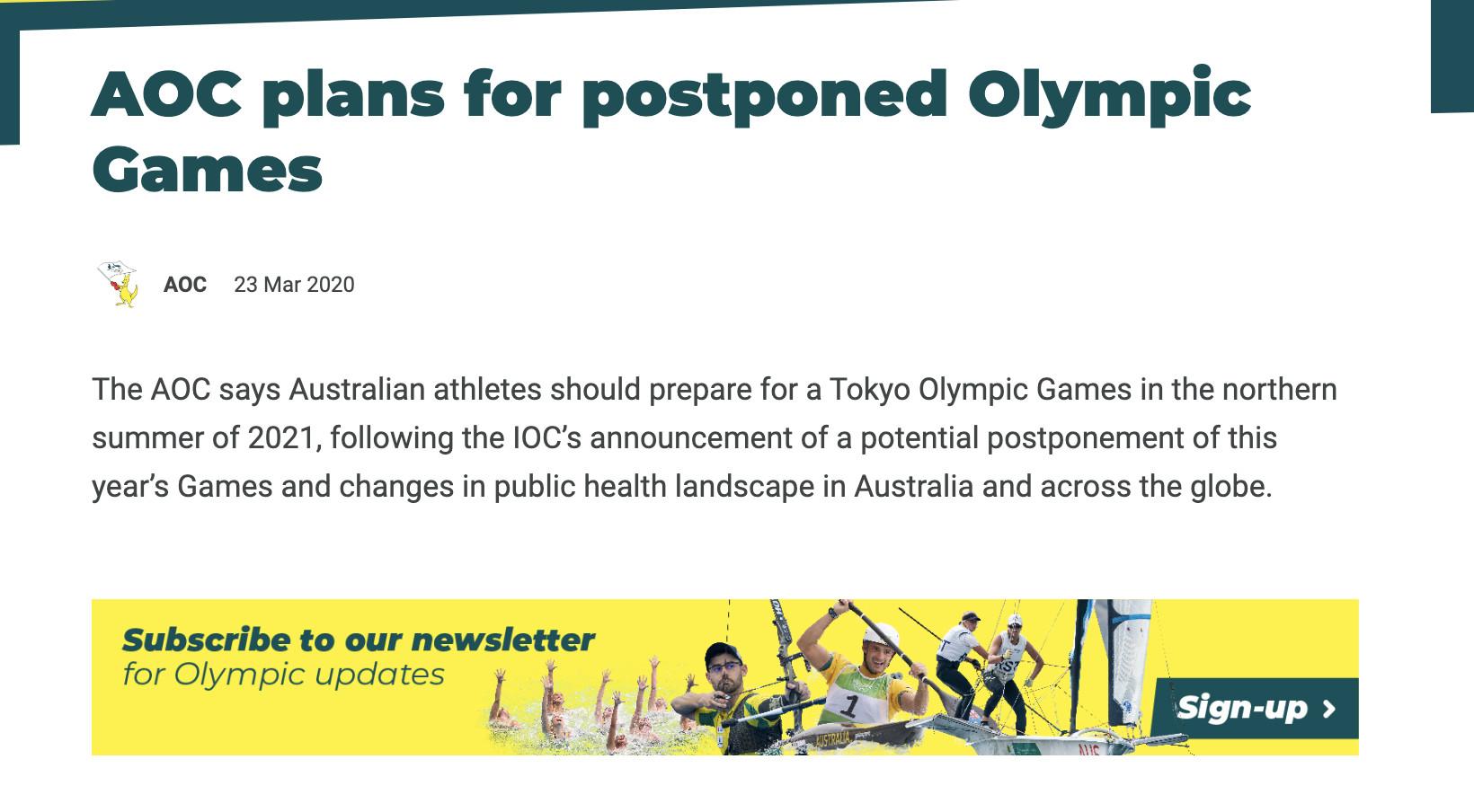 加拿大、澳大利亚退出奥运会!安倍:将考虑延期举办(双语)