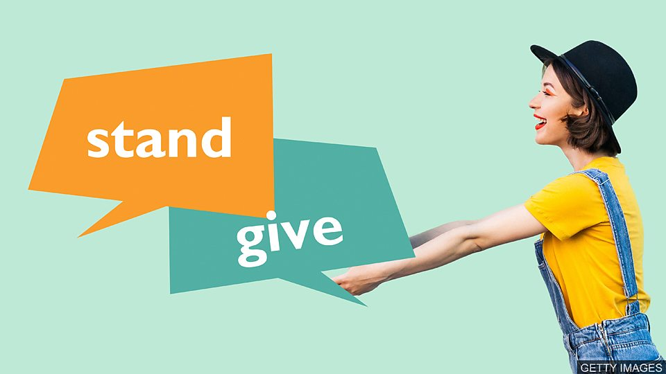 小測驗 —包含 stand 和 give 的動詞短語