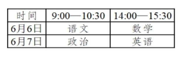 江西2020年体育单招文化考试将于6月6-7日举行
