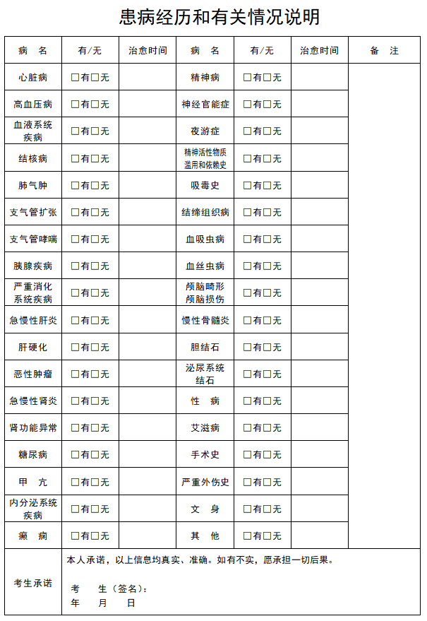 湖南省2020年公安普通高等院校公安专业报考须知
