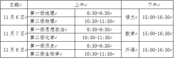 2020年湖北省普通高中学业水平合格性考试全省统考科目考试报名及考试时间