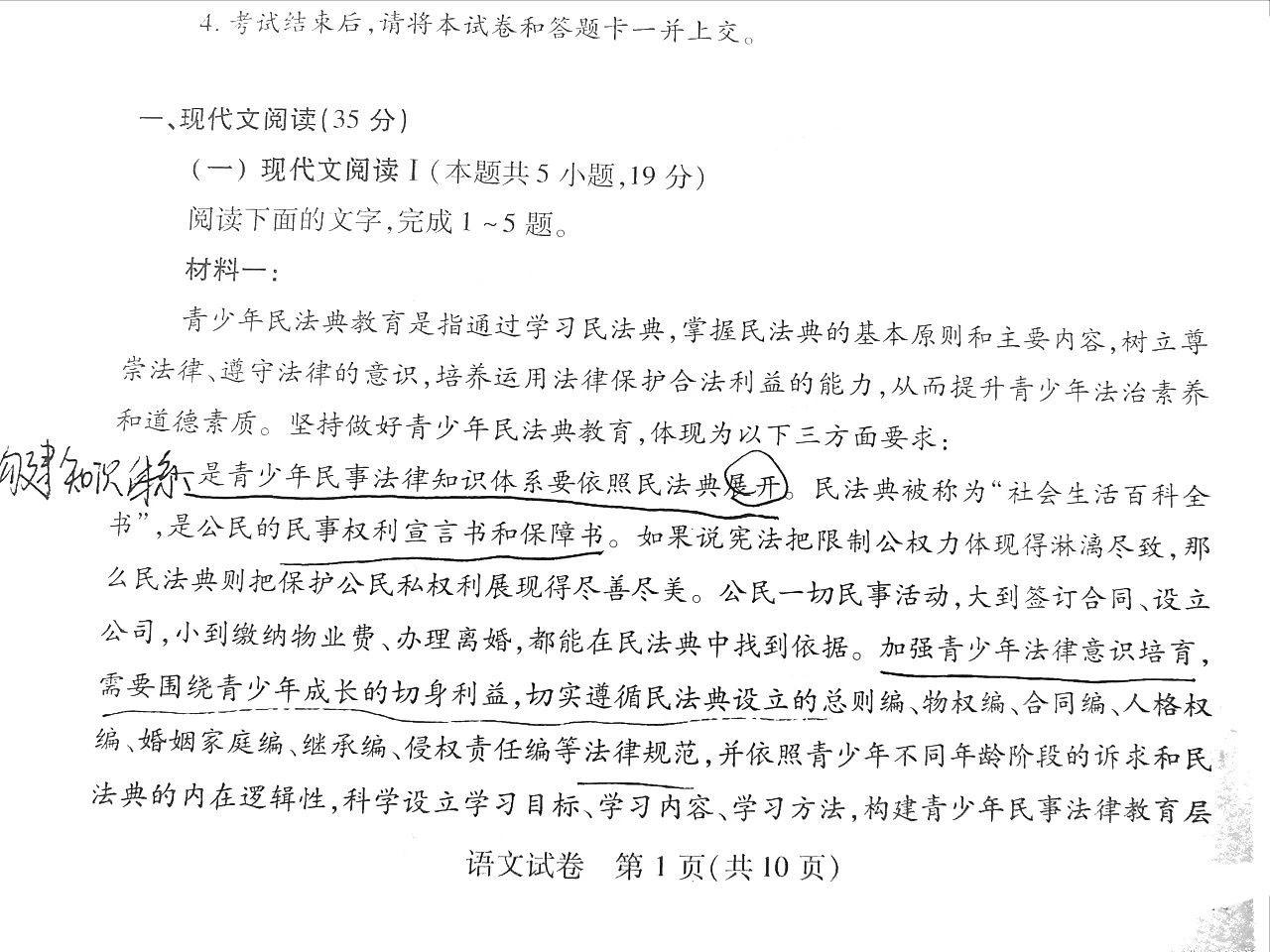 湖北武汉2021届高中毕业生三月质量检测语文试卷图1